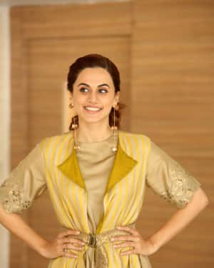 Taapsee Pannu Photos during Neevevaro Movie Interview  | Picture 1594349