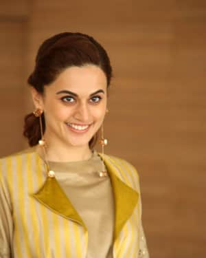 Taapsee Pannu Photos during Neevevaro Movie Interview  | Picture 1594378