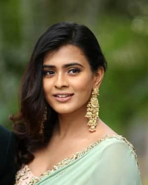 Actress Heebah Patel Photos at 24 Kisses Movie Press Meet