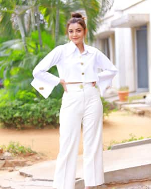Kajal Aggarwal Photos at Kavacham Film Interview | Picture 1614403