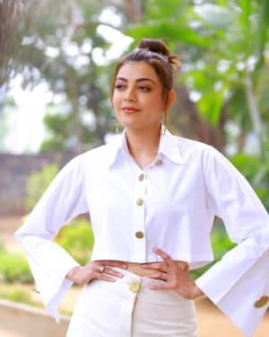 Kajal Aggarwal Photos at Kavacham Film Interview | Picture 1614400