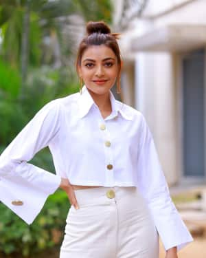 Kajal Aggarwal Photos at Kavacham Film Interview | Picture 1614409