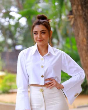 Kajal Aggarwal Photos at Kavacham Film Interview | Picture 1614394