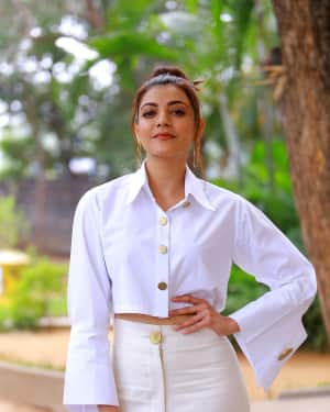 Kajal Aggarwal Photos at Kavacham Film Interview | Picture 1614393