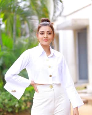 Kajal Aggarwal Photos at Kavacham Film Interview | Picture 1614408