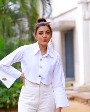 Kajal Aggarwal Photos at Kavacham Film Interview | Picture 1614410