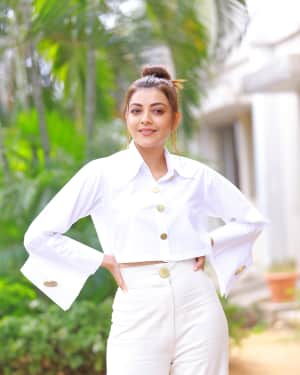 Kajal Aggarwal Photos at Kavacham Film Interview | Picture 1614404