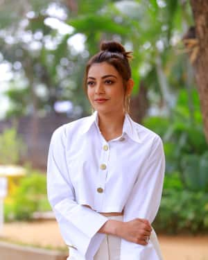 Kajal Aggarwal Photos at Kavacham Film Interview | Picture 1614390
