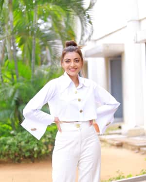 Kajal Aggarwal Photos at Kavacham Film Interview | Picture 1614406