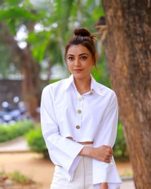 Kajal Aggarwal Photos at Kavacham Film Interview | Picture 1614389