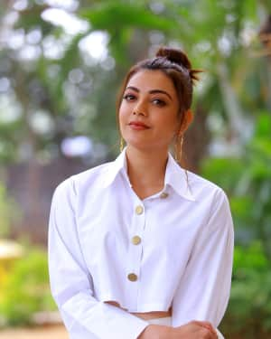 Kajal Aggarwal Photos at Kavacham Film Interview | Picture 1614391