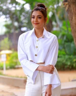 Kajal Aggarwal Photos at Kavacham Film Interview | Picture 1614392
