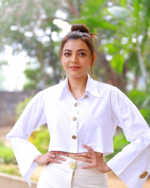 Kajal Aggarwal Photos at Kavacham Film Interview | Picture 1614401