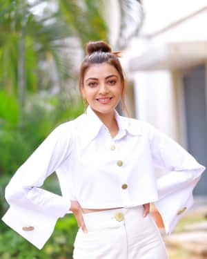 Kajal Aggarwal Photos at Kavacham Film Interview | Picture 1614407