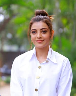 Kajal Aggarwal Photos at Kavacham Film Interview