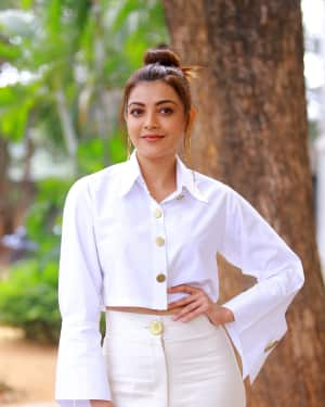 Kajal Aggarwal Photos at Kavacham Film Interview | Picture 1614397