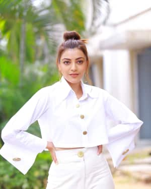 Kajal Aggarwal Photos at Kavacham Film Interview | Picture 1614405