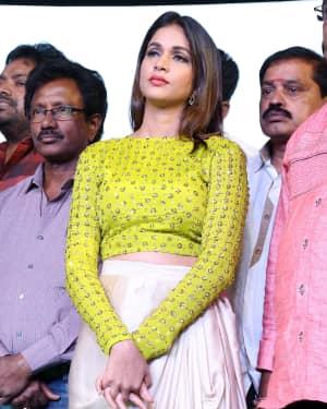 Lavanya Tripathi - Intelligent Telugu Film Pre Release Event Photos