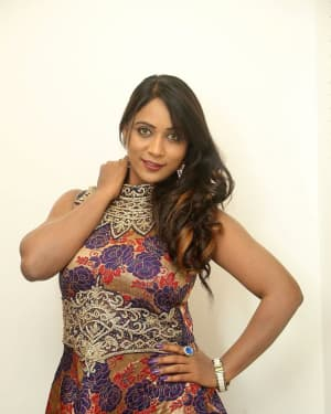 Actress Meghana at HBD Pre Release Event Photos | Picture 1562973