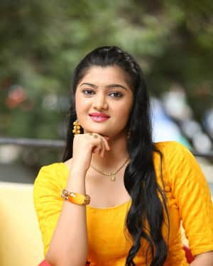 Actress Akshitha Photos at Prema Entha Pani Chese Narayana Movie Press Meet