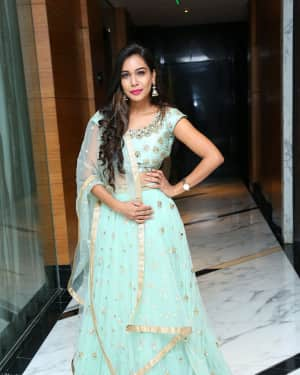 Actress Sanjana Anne Stills at Gold Pillar App Launch
