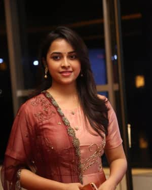 Actress Sri Divya Stills at Abhimanyudu Special Screening | Picture 1584122