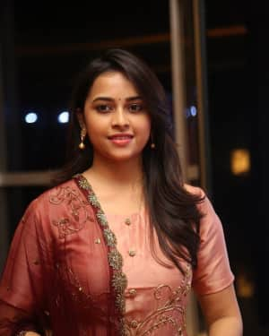 Actress Sri Divya Stills at Abhimanyudu Special Screening | Picture 1584112