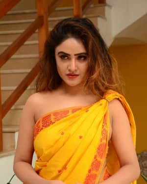 Actress Sony Charishta Hot in Saree Photos
