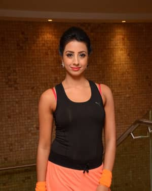 Actress Sanjana Galrani Stills at World Yoga Day Celebrations