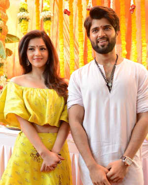 Vijay Deverakonda - Mehrene Kaur Pirzada New Movie Opening Photos