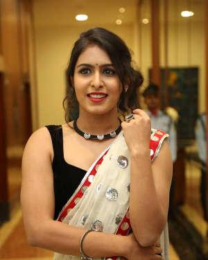 Actress Samyuktha Hegde Hot Stills at Kirrak Party Movie Pre Release Event