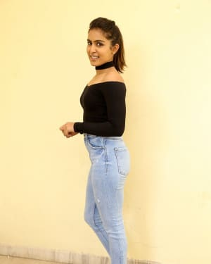Actress Samyuktha Hegde Stills at Kirrak Party Success Meet