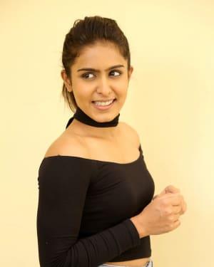 Actress Samyuktha Hegde Stills at Kirrak Party Success Meet | Picture 1572136