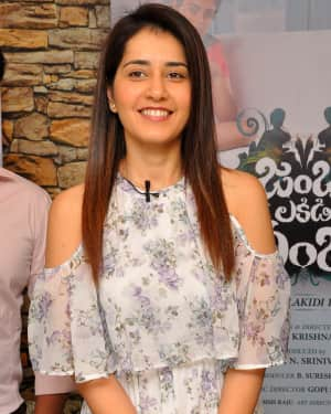 Actress Raasi Khanna Launches Jambalakidi Pamba Movie Lyrical Video Song Photos