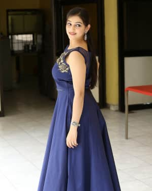 Actress Mouryani Stills at Law Telugu Movie Press Meet