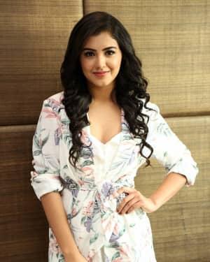Actress Malavika Sharma Hot Stills at Nela Ticket Movie Press Meet