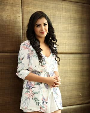 Actress Malavika Sharma Hot Stills at Nela Ticket Movie Press Meet