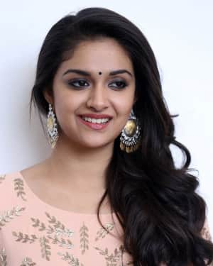 Actress Keerthy Suresh Stills at Mahanati Film Interview