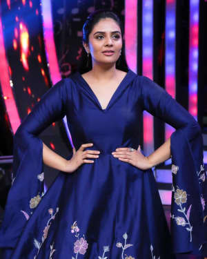 Sreemukhi Photos at SaReGaMaPa Zee Telugu Show
