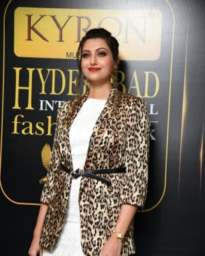 Hamsa Nandini - Kyron Hyderabad International Fashion Week 6th Edition Logo Launch Photos