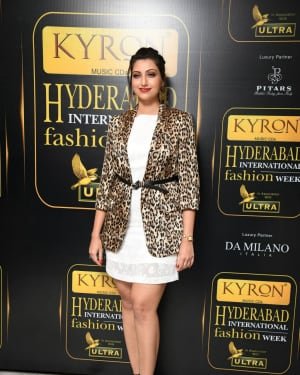 Hamsa Nandini - Kyron Hyderabad International Fashion Week 6th Edition Logo Launch Photos | Picture 1629832