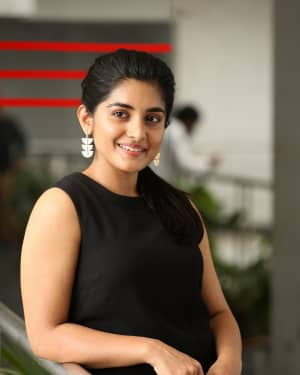 Nivetha Thomas Photos during Interview For Her Film 118