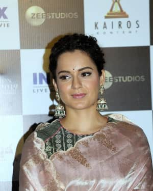 Kangana Ranaut Photos at Manikarnika Telugu Version Trailer Launch