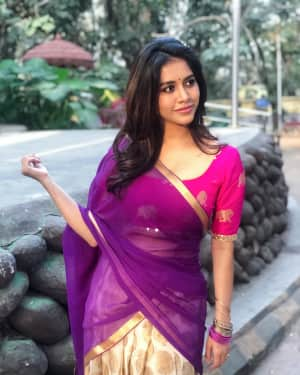Nabha Natesh in Half Saree Photoshoot